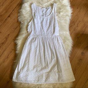 AMERICAN EAGLE WHITE EYELET CUT OUT DRESS
